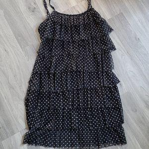Suzy Shier Polka Dot Pleated Dress